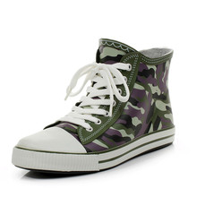 Camouflage men's fashion rain boots boots canvas slip low to help outdoor fishing SUB1226
