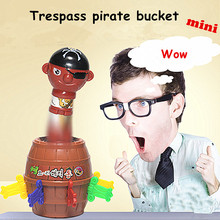Interesting Novelty Toys For Children Jokes Tricky Pirate Barrel Game Funny Lucky Game Gadget Family Party