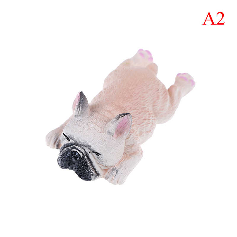 Figuras de acción de PVC, modelo de juguete de paisaje, Bulldog Francés, Sleepy Corgis, perro, animales de decoración, regalos para niños