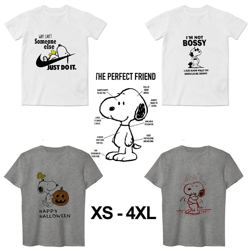 Snoopy Summer Plus Size O-NECK Modal Short Sleeve Unisex T-shirt