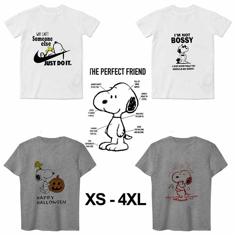 Snoopy Summer Plus Size O-NECK Modal Short Sleeve Unisex T-shirt