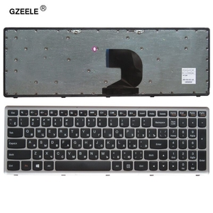 Image 1 - Russian laptop keyboard for LENOVO Z500 Z500A Z500G series  RU layout with silver frame notebook replace laptop Keyboard