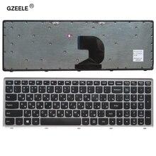 Teclado ruso para ordenador portátil LENOVO Z500 Z500A Z500G, disposición RU con marco plateado, reemplazo de teclado para portátil