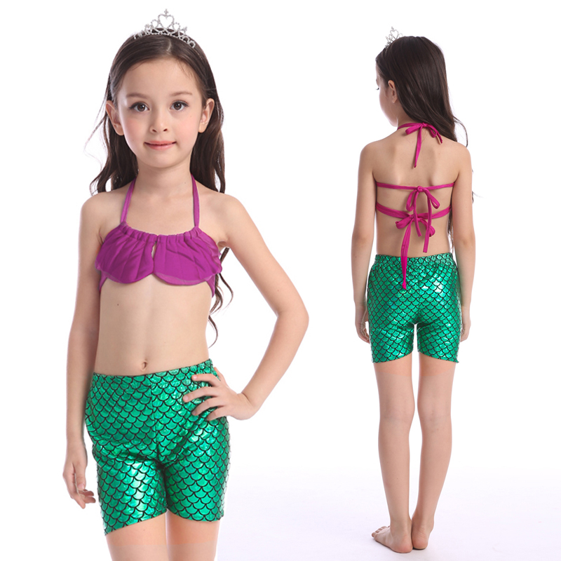c38c8b8222 2016 nice cute bikini swimsuits set swimming mermaid tail long dress for  seaside children swim suit clothing pool for girls-in Bikinis Set from  Sports ...
