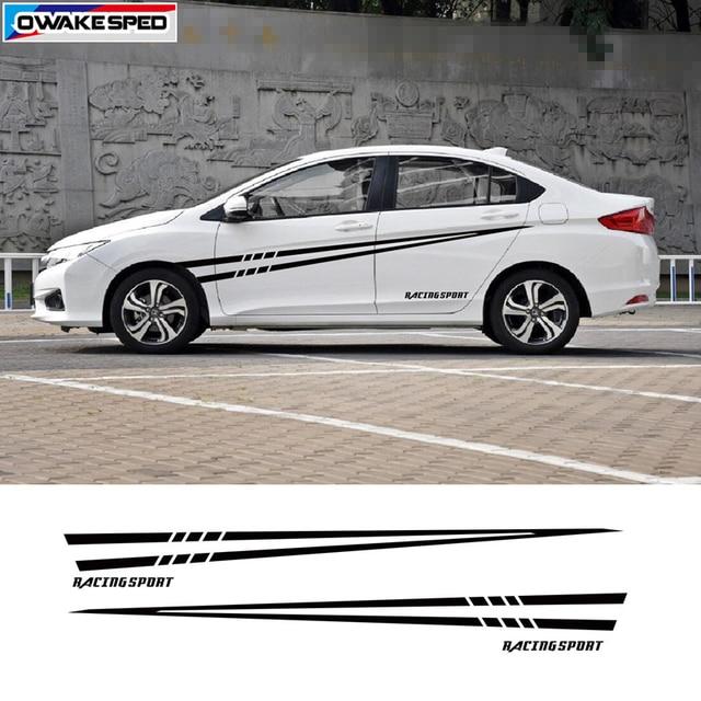 Racing Sport Vinyl Decal Car Styling Body Door Side Decor Stickers