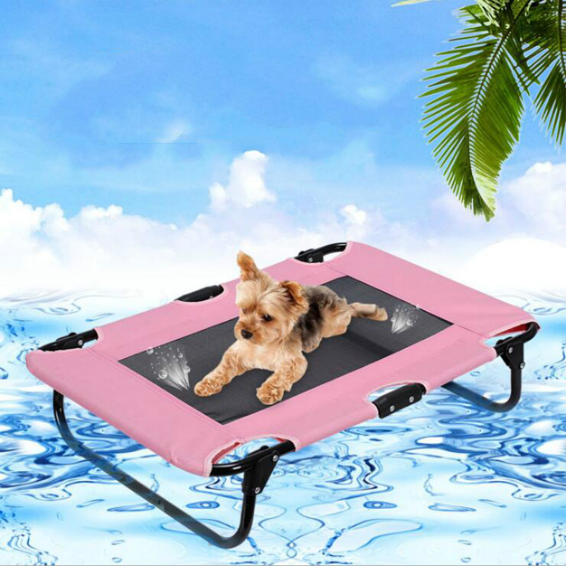 Pet supplies wrought iron removable and washable breathable dog mattress teddy golden hair pet portable folding bed ZP4121604 - 3