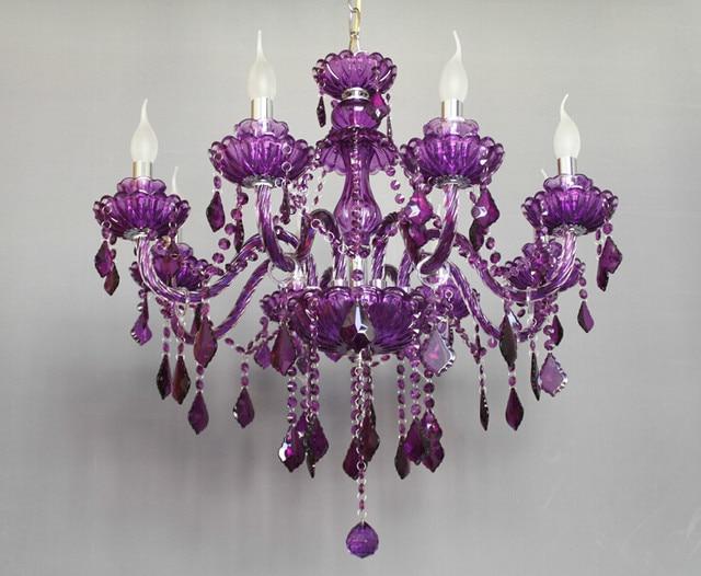 Online shop wowlite luxury purple glass chandelier pendant lamp wowlite luxury purple glass chandelier pendant lamp mozeypictures Gallery