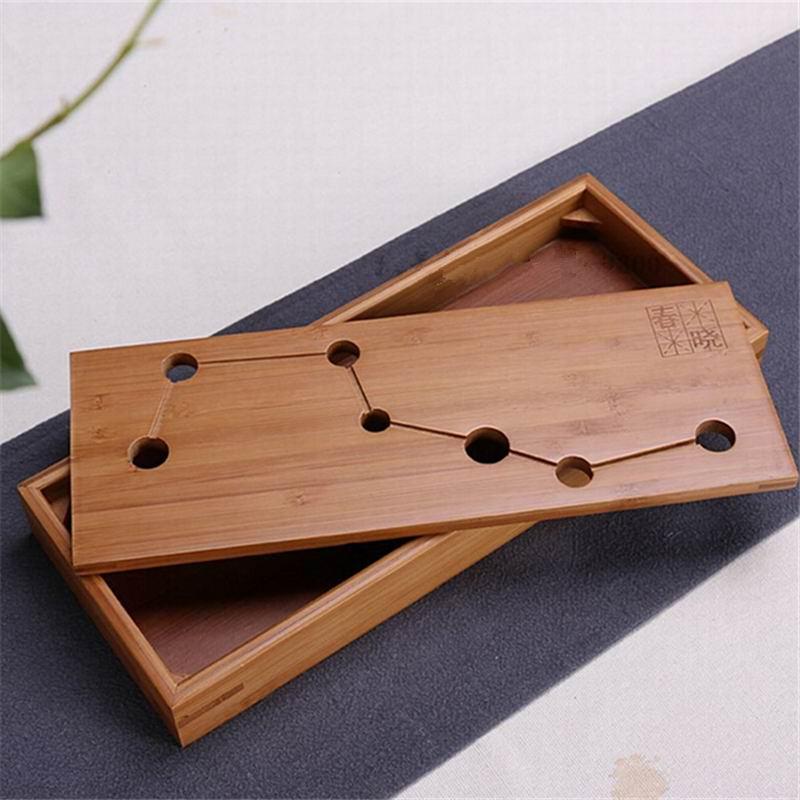 Doprava zdarma Bambusové kung-fu čajové sady zásobník na - Kuchyně, jídelna a bar