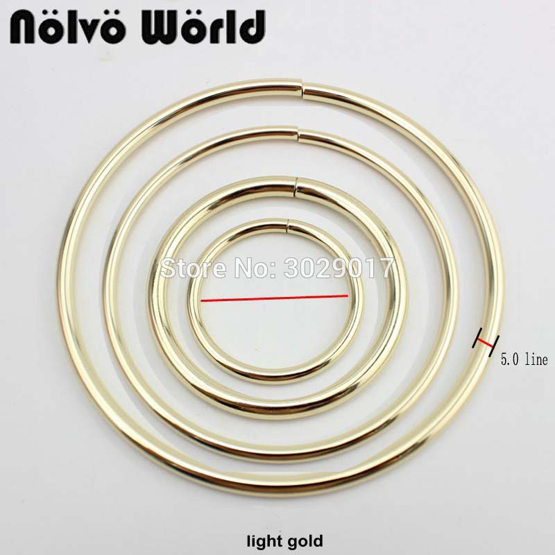 20pcs O Ring Big Rings 50mm 75mm 100mm 125mm Inside For Strap Ring Bags Bags Handle Pants Connect Handmade Alloy Metal