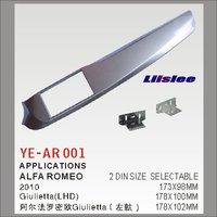 Liislee 2 DIN Plastic Frame Panel For Alfa Romeo Giulietta (940) 2010~2016 Aftermarket Radio Stereo DVD GPS Navi Installation