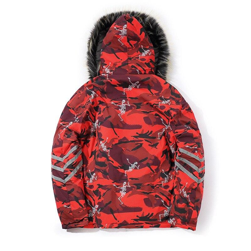 Capuche Col Épais Manteau Fourrure Hip Chaud Mode Parka X1879 red D'hiver Hop Aboorun Camou Veste Gray Grand À Mâle Hommes De 0kwO8nP