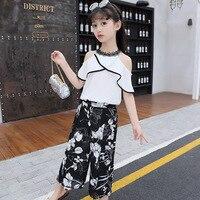 1703f12b4 ... Outfits Girls Sets Clothes Kids Fashion Tops Floral Pants Two Piece Set  Children. Ternos de verão Menina Outfits Meninas Conjuntos Roupas Crianças  Moda ...