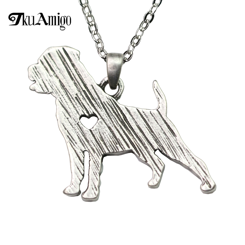 Rottweiler Necklace Women Jewelry Rott Rottie Dog Breed Silhouette Charms A29