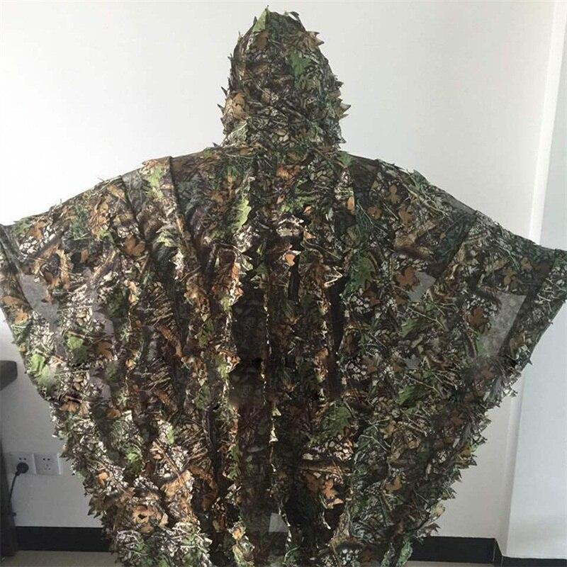Jagd-tarnanzug Polyester Outdoor 3d Blatt Camouflage Woodland Sniper Jagd Ghillie Anzüge GläNzend