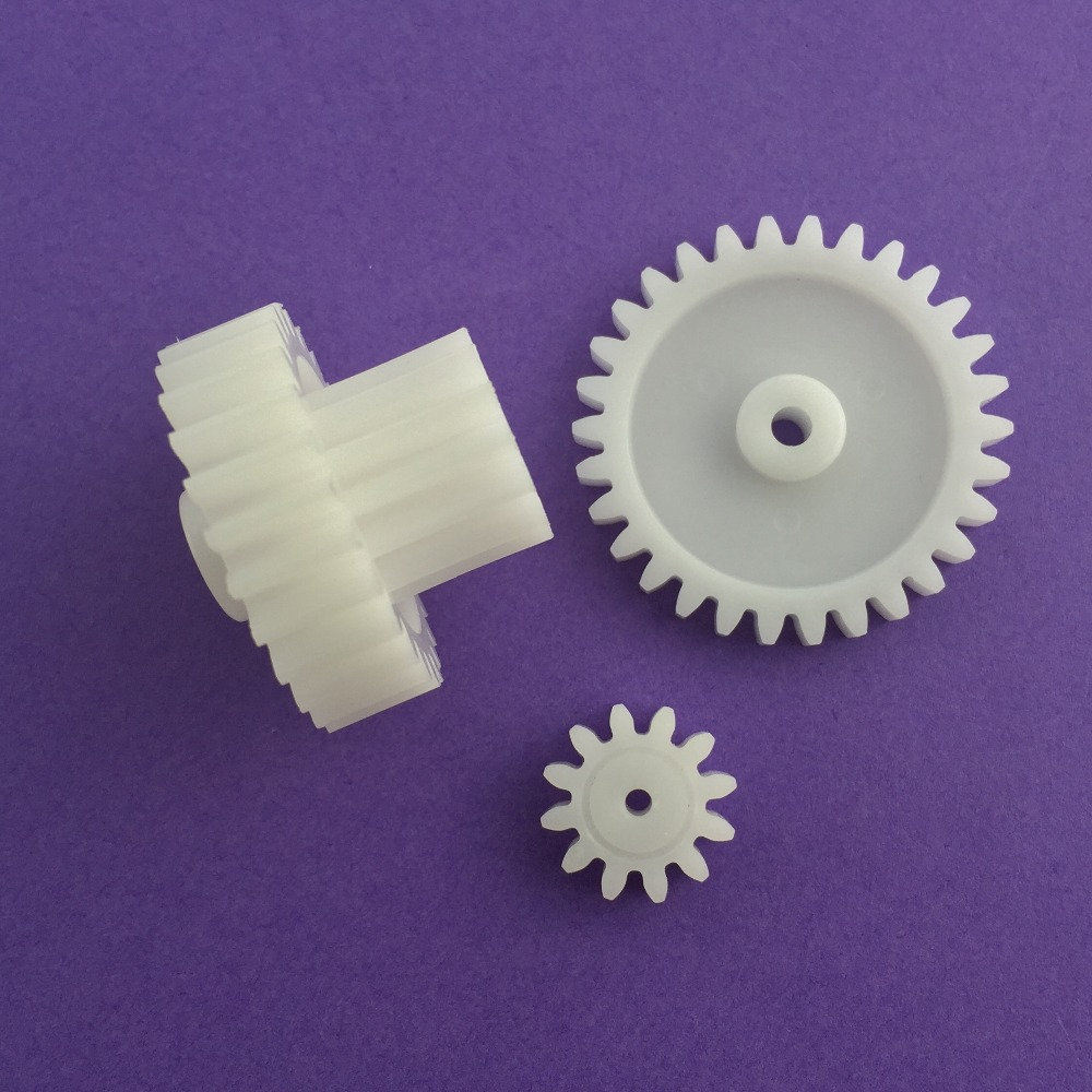 3pcs/lot J202Y M1 Plastic Gears 12T 30T 26T Module 1 Combination Reduction Gears DIY Free Shipping Russia