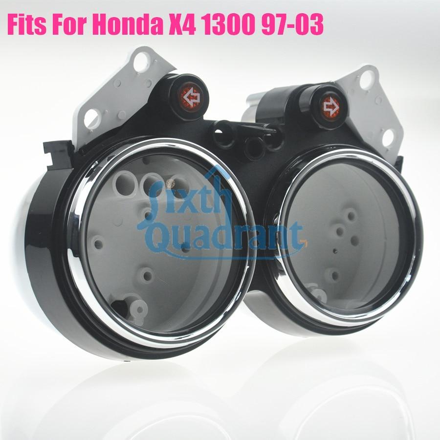 Мотоцикл замена обновление пользовательские спидометр и тахометр кластера комплект Чехол для Honda х4 1300 97 98 99 00 01 02 03