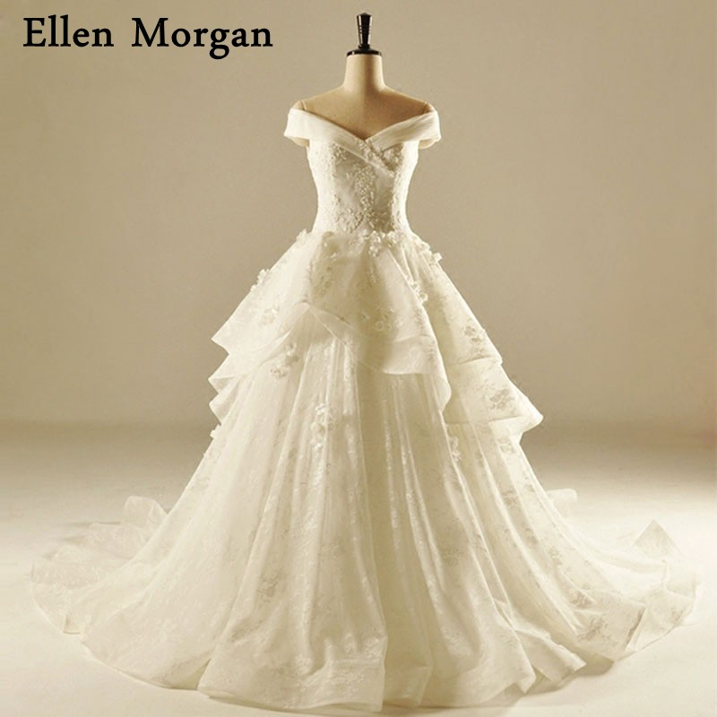 Vestido De Noiva 2018 Princess Wedding Dress Ball Gown Off: Vintage Lace Ball Gowns Wedding Dresses 2018 Vestido De