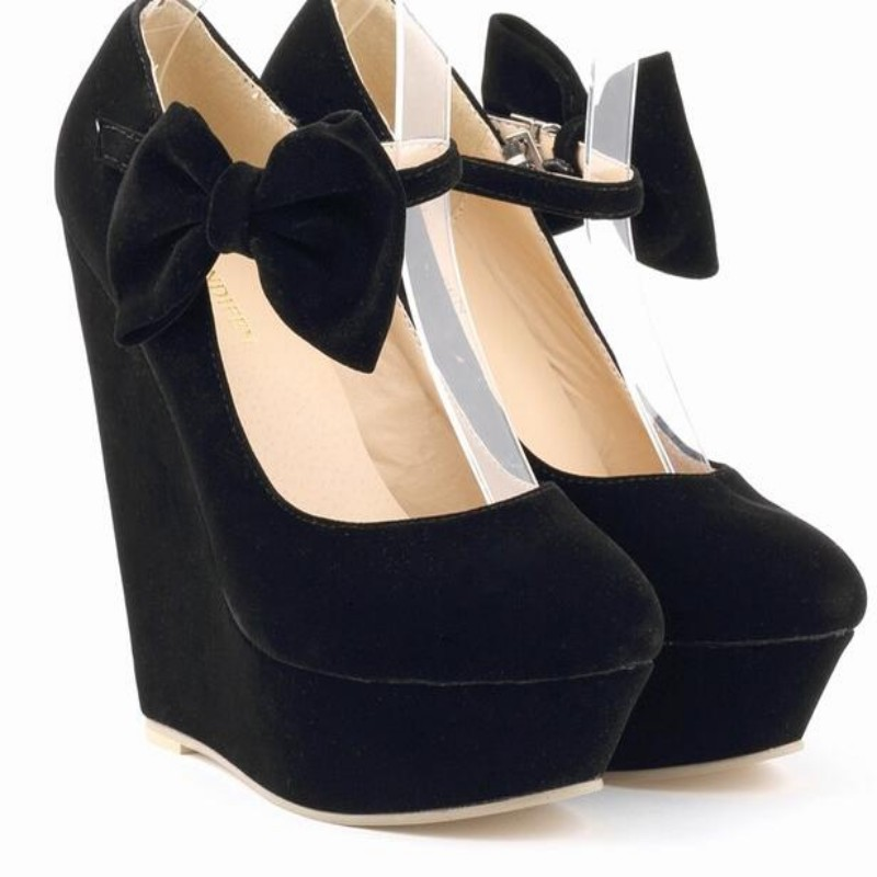 Popular Ankle Strap Suede Platform Wedge-Buy Cheap Ankle Strap ...
