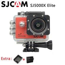 Original SJCAM SJ5000X Elite WiFi 4 K 24fps NTK96660 Impermeable Acción Deporte Cámara HD Giroscopio 2.0 LCD + Extra 1 unids batería + Cargador