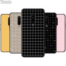 Soft Phone Case Shell for Oneplus 7 7 Pro 6 6T 5T Black Case for Oneplus 7 7Pro Silicone Cover Retro Black White Grid