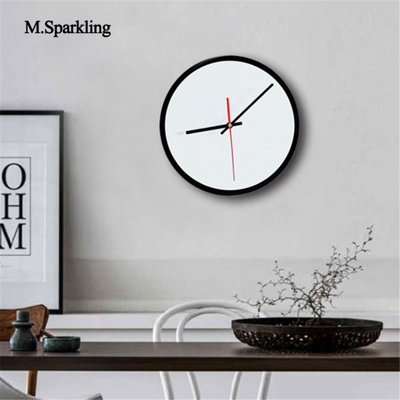 M Sparkling European Style Wall Clock Round And Square Brief Living Room Wall Clocks Digital