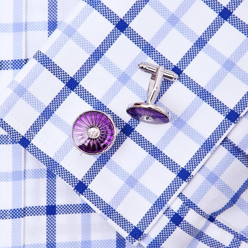 KFLK bijoux mode chemise française boutons de manchette pour hommes - Bijoux fantaisie - Photo 3
