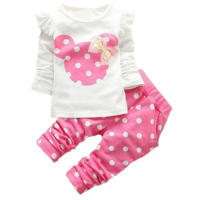 4383c00d32a5 Aliexpress.com   Buy Baby Girl Clothes Set 3 6 9 12 18 24 Months ...