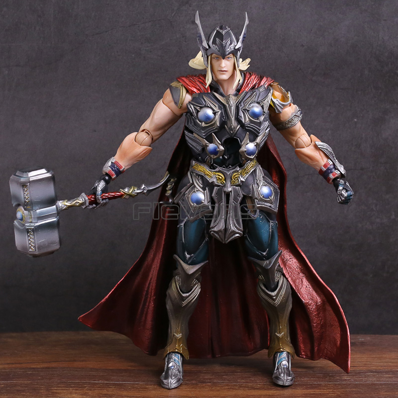 Play Arts KAI Marvel Universe Thor PVC Action Figure Collectible Model Toy fire toy marvel deadpool pvc action figure collectible model toy 10 27cm mvfg363