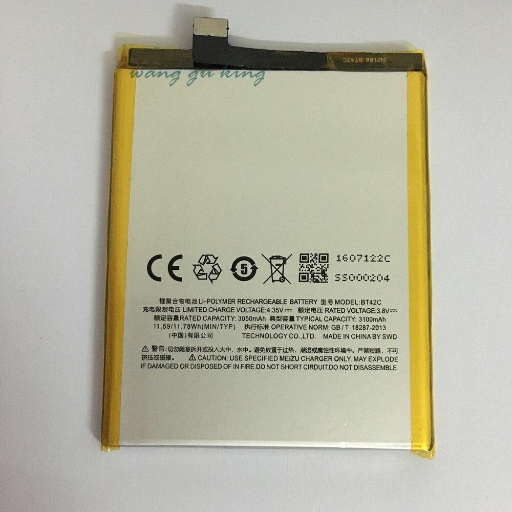 100% Оригинальные Резервное копирование новых BT42C Батарея 3100 мАч для <font><b>Meizu</b></font> <font><b>M2</b></font> Примечание Батарея В наличии с номером отслеживания