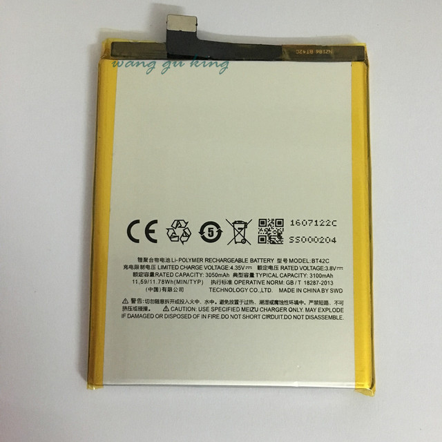 100% Original Backup new BT42C Battery 3100mAh for MEIZU M2 Note Battery In stock With Tracking number