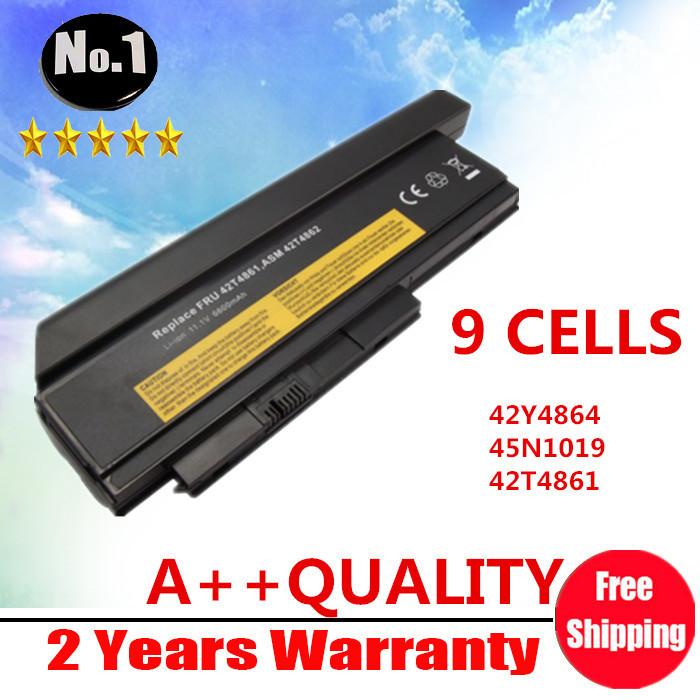 Prix pour En gros nouveau 9 cellules batterie d'ordinateur portable pour lenovo thinkpad x220 x220i série 42y4874 42t4901 42t4902 42y4940 livraison gratuite