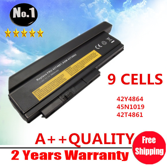 WHOLESALE NEW 9CELLS LAPTOP BATTERY FOR LENOVO ThinkPad   X220  X220i Series  42Y4874 42T4901 42T4902 42Y4940 FREE SHIPPING wholesale new 6 cells laptop battery for dell latitude d620 d630 d630c d631 series 0gd775 0gd787 0jd605 0jd606 free shipping