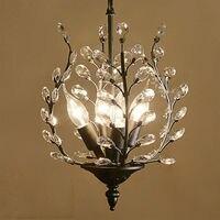 American Village Entrance Restaurant Crystal Pendant Lights European French Aisle Bar Luxury Retro Ceiling Lamp