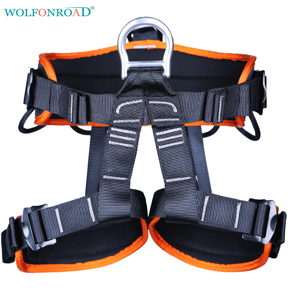 WOLFONROAD Sport Tree Climbing Harness Climbing Seat Belt Rock Climbing Harnesses For Rope Ascents Half Body Belts L-XDQJ-163