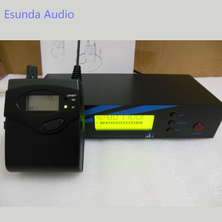 IEM500 Monitoring System Wireless in ear Monitor Professional for Stage Performance 40 Ch adjustable UHF 100 Meters Long Range