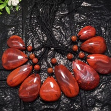 Wholesale Natural South Red Agate Pendant DIY