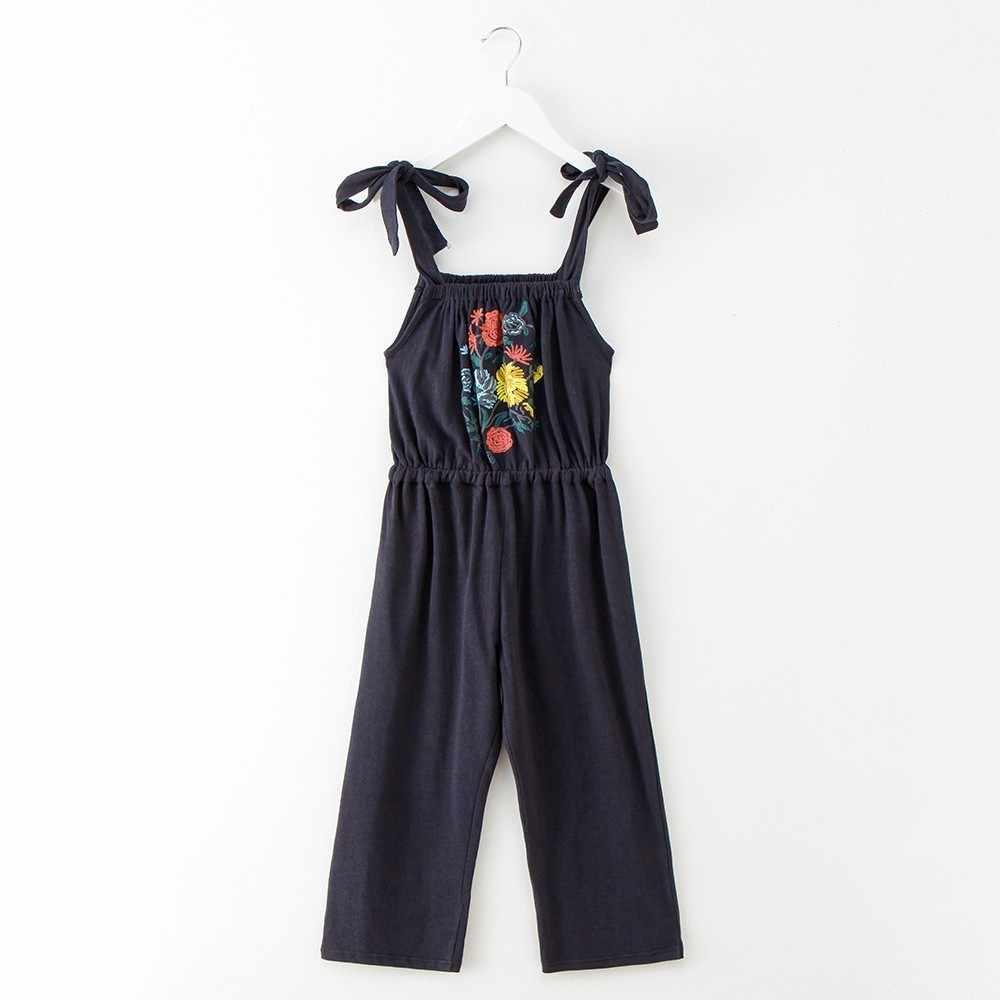 fa11b568d42 ... floral pattern kid girls jumpsuit summer 2018 spring teenage pants  sleeveless pink blue overalls girls children ...