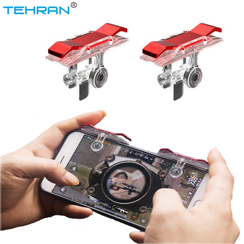 TEHRAN Mobile phone Game pubg gamepad Fire Button Controller and joystick Gamepad Survival Game grip R1L1 Triggers for Controlle