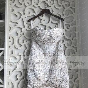Image 2 - Mryarce 2019 Luxury Exclusive Lace Mermaid Wedding Dress Strapless Love Spell Boho Wedding Chic Bridal Gowns