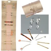 Tear drop CZ stein zirkonia ohrring haarspange haarschmuck set geschenk pack mit lederband