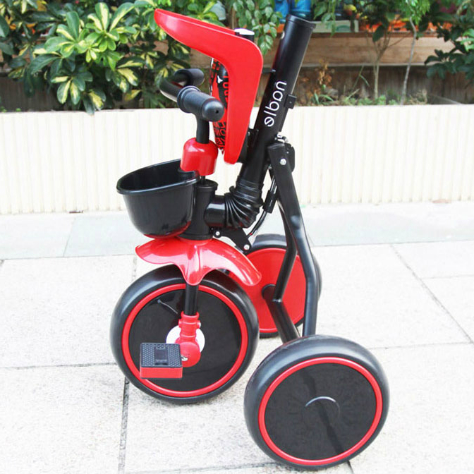 Folding Tricycle Portable Baby Bike Children 2 to 5 Years Old Baby Simple Stroller Walker Child Bicycle Riding Toys