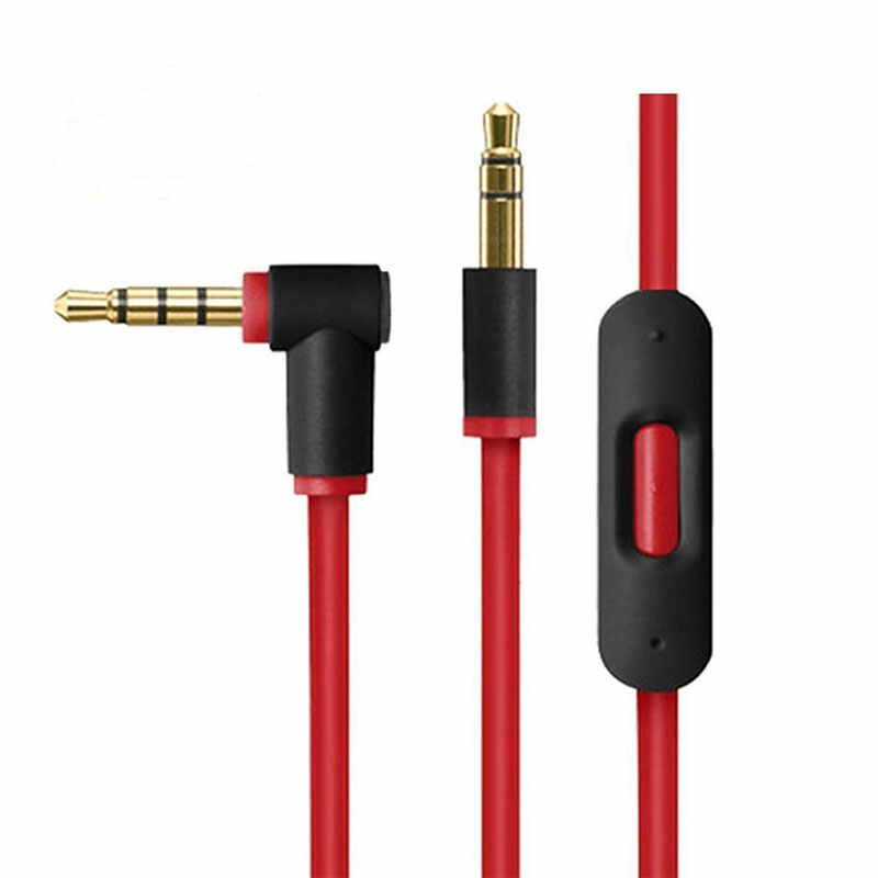 AHHROOU Оригинал 3,5 мм Замена аудиокабеля с микрофоном управление разговора для Dr Dre Solo/Pro/наушники Mixr
