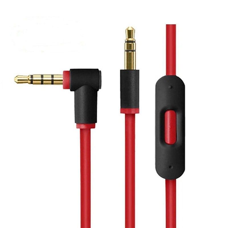 AHHROOU D'origine 3.5mm Remplacement du Câble Audio Avec Micro talk de Contrôle pour Dr Dre Solo/Pro/Mixr Casque