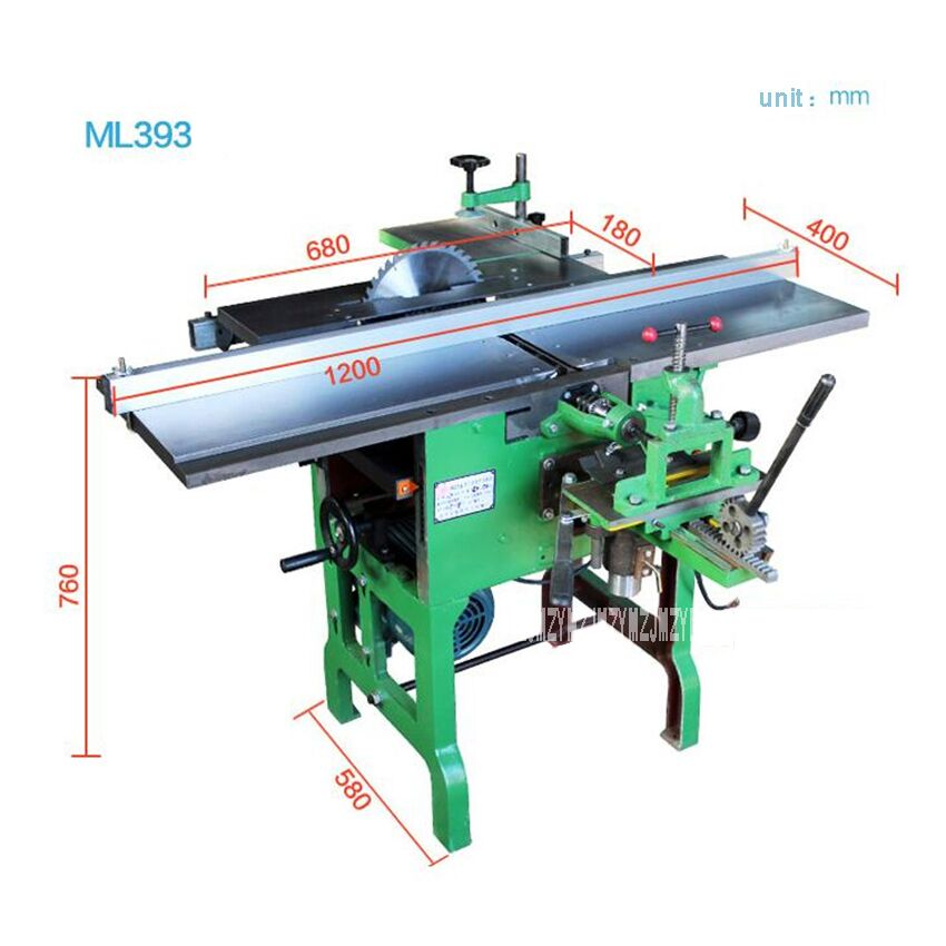 Molinillo de herramientas multiusos ML393/motosierra/cepilladora de madera eléctrica, maquinaria de carpintería de escritorio, 220 V/380 V 2.2KW 6,5 m/min - 4