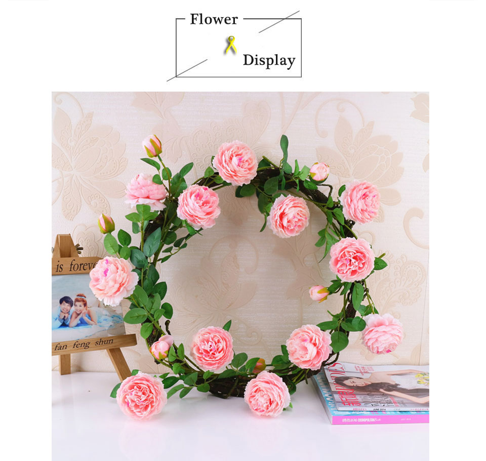 Artificial Flowers 3 Heads White Yellow Peonies Silk Flowers Peony Artificial Flower Wedding Decor for Home Peonies Color_06
