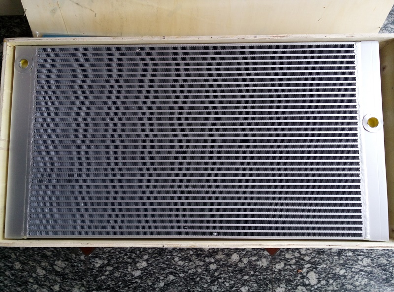 WJIER silvery aluminum plate fin combined air cooler 1613830400 for GA37 Screw Air Compressor цена
