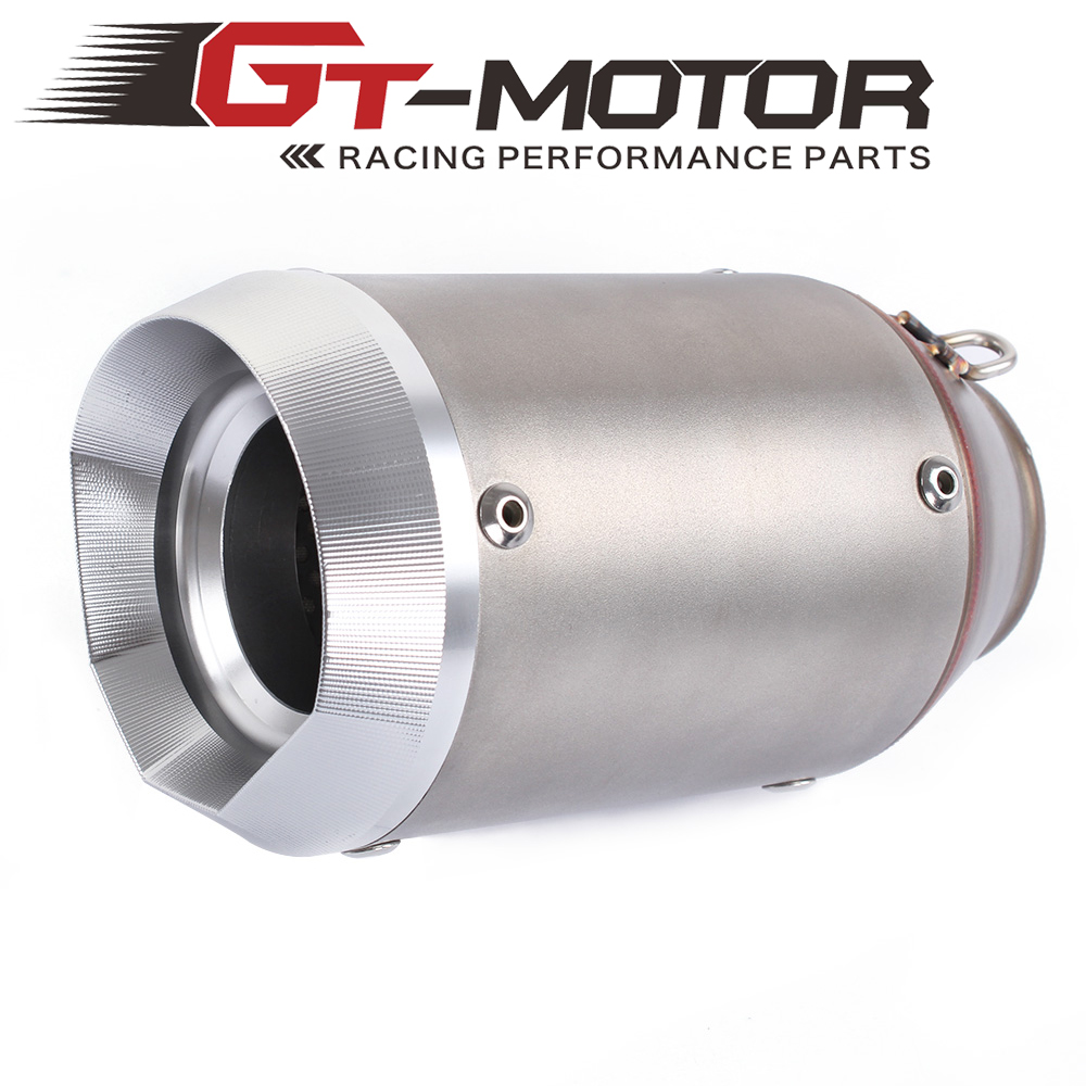 GT Motor - Universal 36-51mm Motorcycle exhaust Modified Scooter Exhaust Muffle GY6 silencer escape