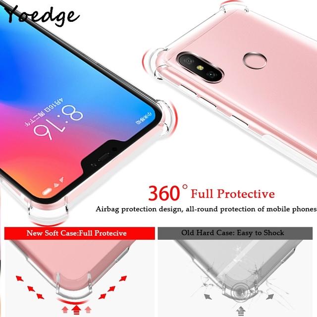 Transparent TPU Caso For Xiaomi Mi A1 A2 6 Mix 2s 8 SE Lite Play Case For Redmi S2 4 4X 4A 5 Plus 6A Note 3 5 6 7 Pro 5A Cover
