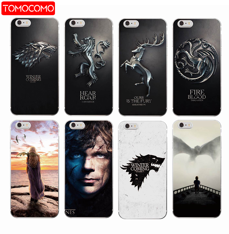 TOMOCOMO <font><b>Game</b></font> <font><b>Thrones</b></font> Daenerys Dragon Jon Snow tyrion lannister Soft <font><b>Phone</b></font> <font><b>Case</b></font> Fundas For iPhone 7 7plus 6 6S 6Plus 5 8 8Plus X