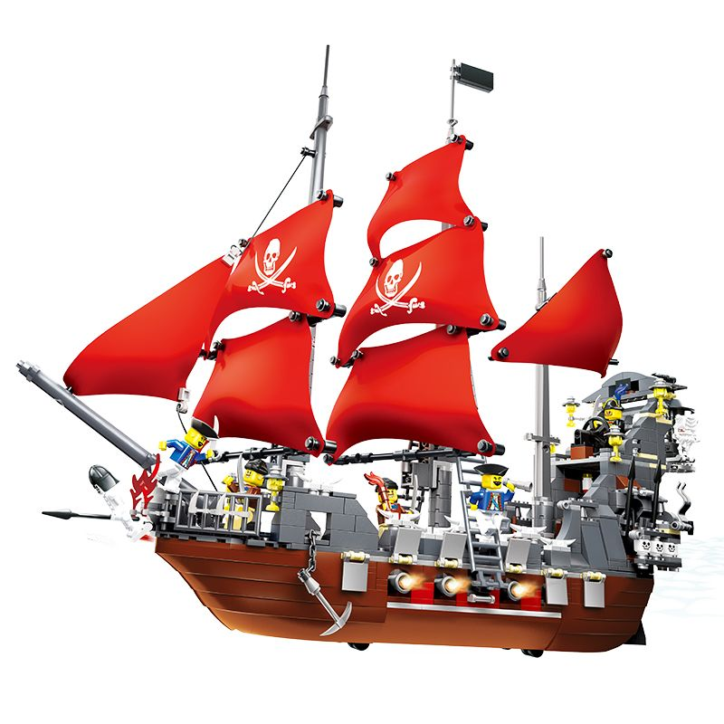 Building Block Set Compatible with pirate ship Black Beard 3D Building Bricks educational hobby for kids toys Free shipping free shipping lepin 16002 pirate ship metal beard s sea cow model building kits blocks bricks toys compatible with 70810